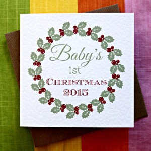 Baby's First Christmas from Leopard Print Cards