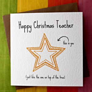 Happy Christmas Teacher from Leopard Print Cards