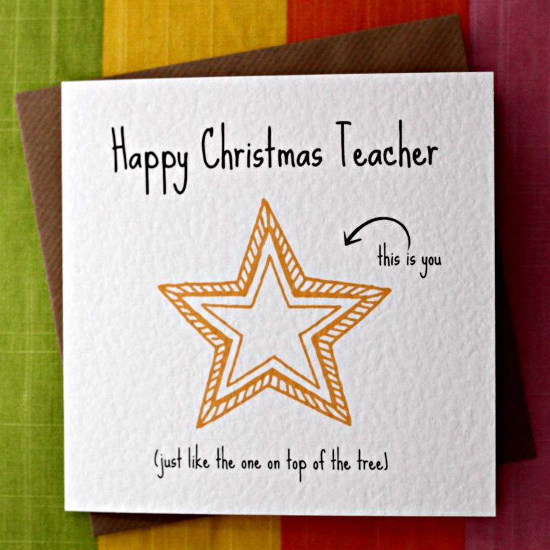 Happy Christmas Teacher from Leopard Print Cards