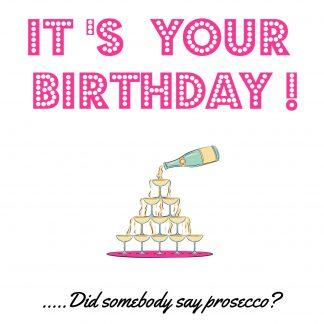Birthday Prosecco Card