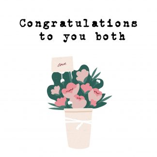 Congratulations to you both
