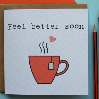 Feel Better Soon encouragement card