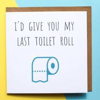 Toilet roll lockdown card