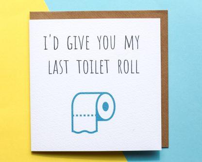 Toilet roll lockdown card