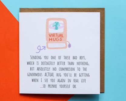 Send a hug in a card - virtually