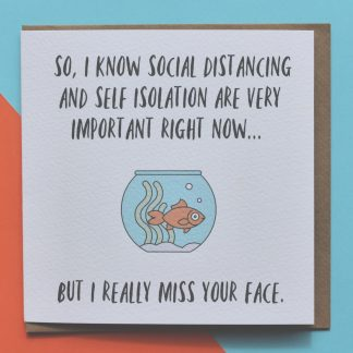 Social Distance Lockdown Card