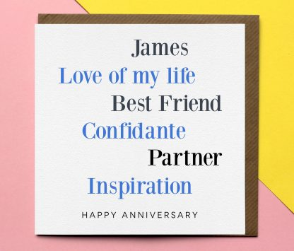 Anniversary Card - Personalised