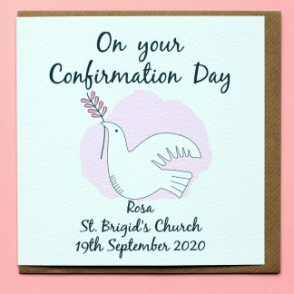 A personalised confirmation card Girl